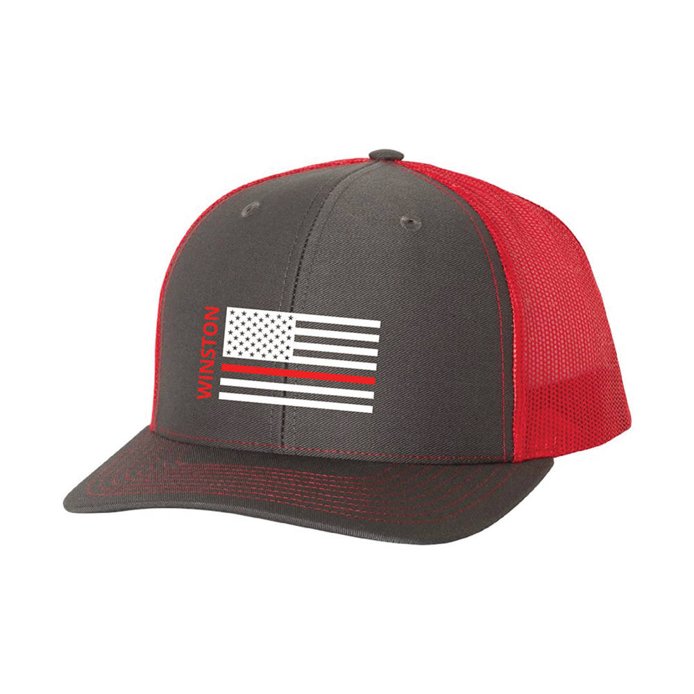 Hold The Line Custom Firefighter Trucker Hat.   SHOP NOW 221a3cbc2da9