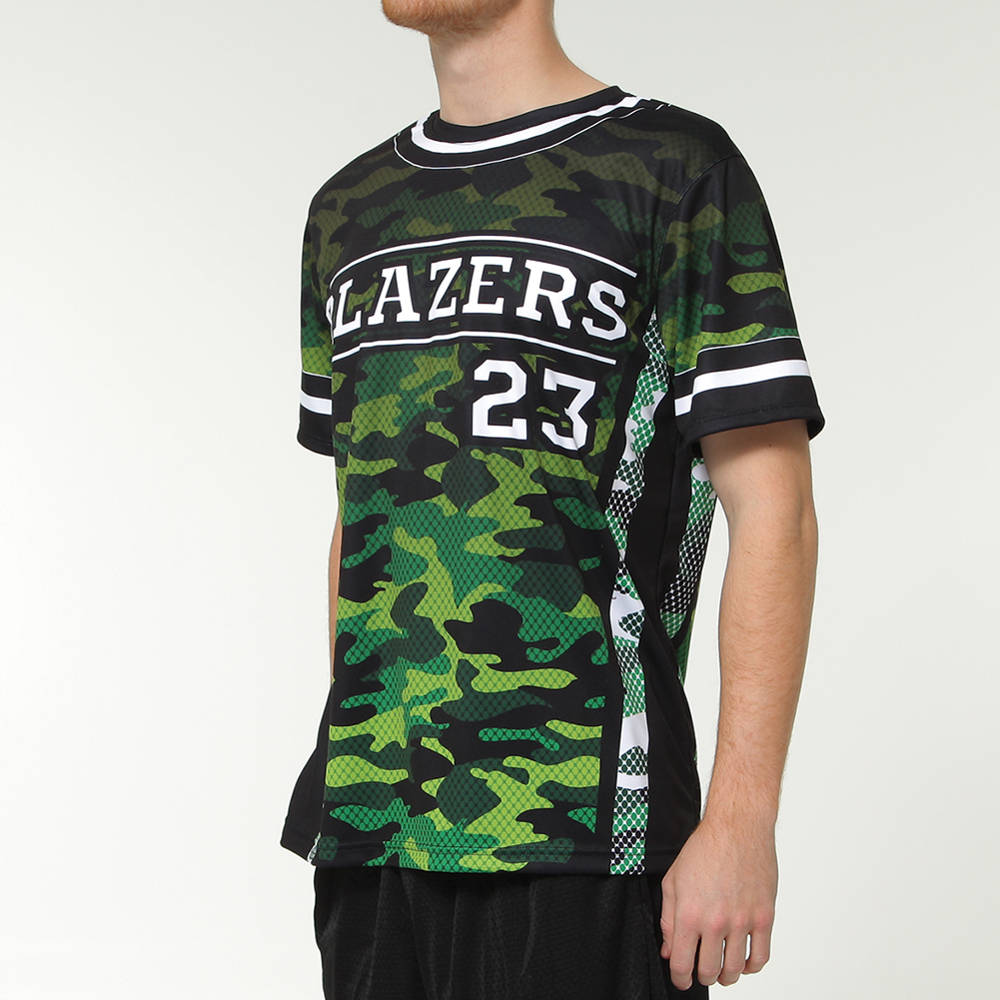 camo design softball jersey
