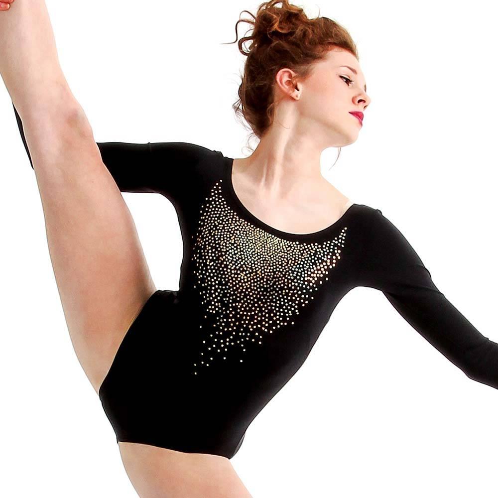 Alexandra Sequin Long Sleeve Leotard : AC1020